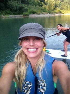 Paddleboarding on the Sandy River